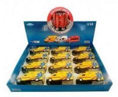 Teddies Auto ambulance kov/plast 13cm na zpětné natažení na baterie se zvukem se světlem