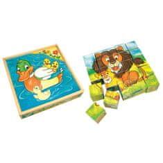 Bino Obrázkové kostky - Zvířátka, 25 ks