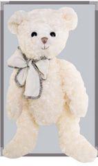 Bukowski Bukowski BEAU GARCON ANTOINE medvídek bílý, přírodní mašle s lemem (40 cm)