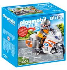Playmobil 70051 Zásahový motocykl záchranářů se světly
