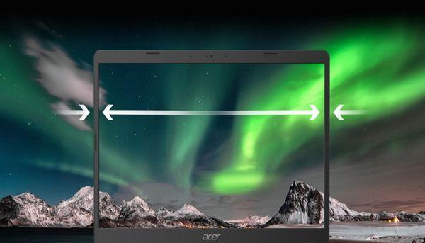 Notebook Acer Aspire 3 ostrý barvy full hd úzký rámeček