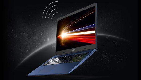 Notebook Acer Aspire 3 rychlá wi-fi bezdrátové připojení rychlý internet