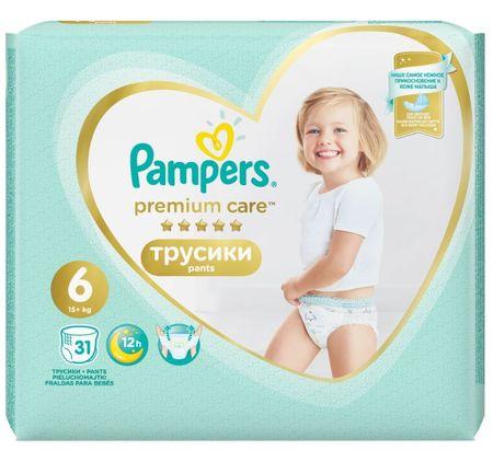 Pampers hlačne plenice Premium Care Pants 6 (15+ kg) Extra Large 31 kosov