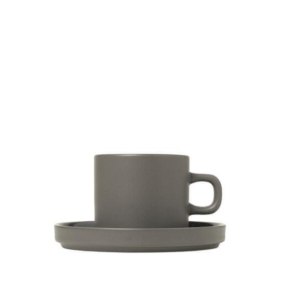 Blomus  Súprava 2 hrnčekov na kávu s tanierikmi MIO cínová 0,2 l