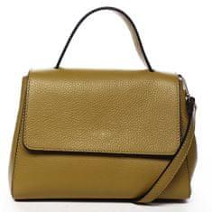 Delami Vera Pelle Atraktivní kožená kabelka do ruky Fátima, žlutá