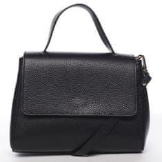 Delami Vera Pelle Atraktivní kožená kabelka do ruky Fátima, černá
