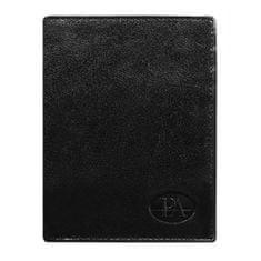 Pierre Andreus Luxusní pánská kožená peněženka černá Pietro