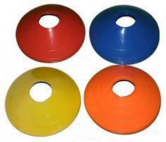 Spartan Kužely kopaná nízké 20 ks modro/žluto/oranžovo/červené