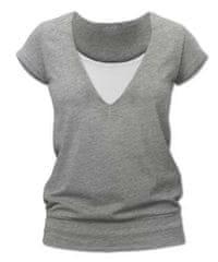 Jožánek Kojící tričko KARLA, krátký rukáv, šedý melír S/M
