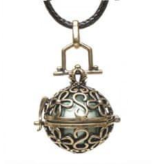 Aniball Dámsky náhrdelník Rolnička Vintage - zelená
