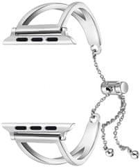 Wotchi Nastavitelný ocelový tah pro Apple Watch - Stříbrný 38/40 mm