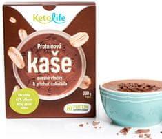 KetoLife Proteínová kaša - Ovsené vločky a príchuť čokoláda 5 x 40 g