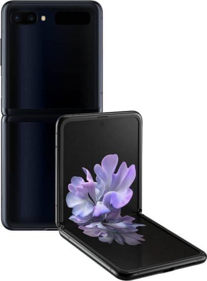 Samsung Galaxy Z Flip, 8GB/256GB, Mirror Black + bezdrátová QI nabíječka ZDARMA