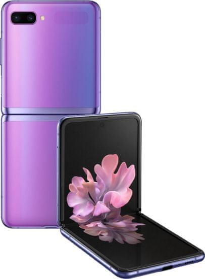 Samsung Galaxy Z Flip, 8GB/256GB, Mirror Purple + bezdrátová QI nabíječka ZDARMA