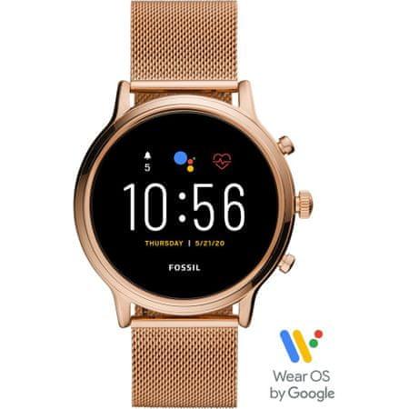 Fossil smartwatch Gen5 Julianna HR, 44 mm, Rose Gold stal nierdzewna Mesh (FTW6062)