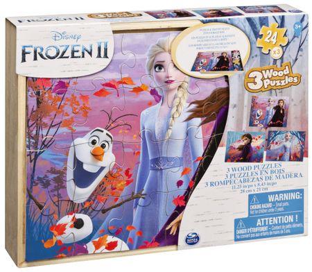 Spin Master Frozen 2 drvena slagalica 3D, 3x 24 dijelova