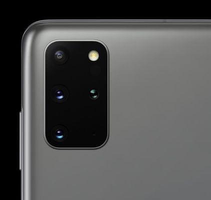 Samsung Galaxy S20+, štvornásobný ultraširokouhlý fotoaparát, teleobjektív, optická stabilizácia obrazu, trojnásobný optický zoom, dual pixel PDAF, TOF 3D kamera