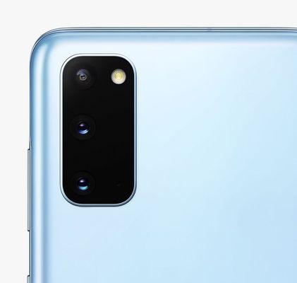 Samsung Galaxy S20, trojitý ultraširokouhlý fotoaparát, teleobjektív, optická stabilizácia obrazu, trojnásobný optický zoom, dual pixel PDAF
