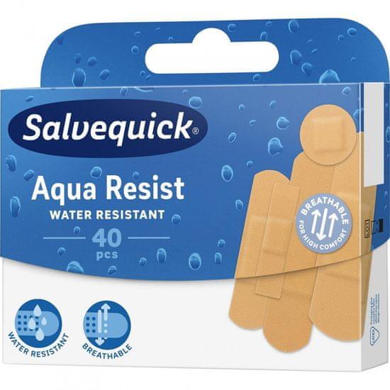 Salvequick Aqua Resist Náplasť vodeodolná mix, 40 ks