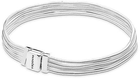Pandora Srebrna zapestnica Odsevi 597943 (Dolžina 17 cm) srebro 925/1000