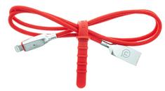 USAMS SJ418 Smart Power Off Datový Kabel Lightning Red (EU Blister) (IPYSUSB0303)