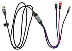 USAMS SJ420 U47 OTG Datový Kabel 3v1 Black (EU Blister) (SJ420USB01)