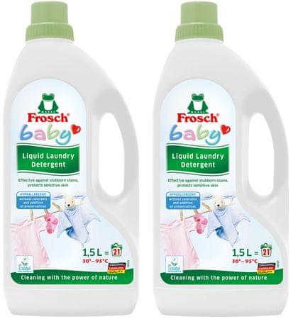 Frosch EKO hipoalergenski gel za otroško perilo, 2 x 1,5 l