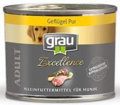 Grau Excellence psi, perad, bez žitarica, 6x 200 g