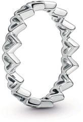 Pandora Srebrni prstan za srce 198696C00 srebro 925/1000