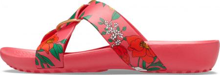 Crocs Serena Printed CrossBand Slide W (206434-97E) ženski natikači, rdeči, 36/37