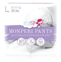 MonPeri jednorázové kalhotky L (8-14kg) 20ks