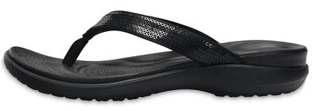Crocs Capri V Sequin Flip W (204311-001) ženske japonke, črne, 38/39