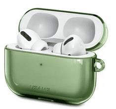 USAMS BH568 Silikónové Puzdro pre AirPods PRO Transparent Green (Eu Blister) (BH570AP02)