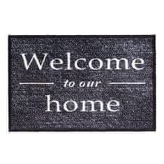 FLOMA Vnitřní vstupní čistící pratelná rohož Prestige, Welcome to our home - délka 50 cm a šířka 75 cm