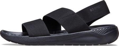 Crocs LiteRide Stretch Sandal W (206081) női szandál, 36/37, fekete