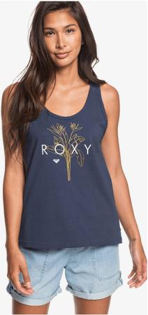 Roxy ženska majica z naramnicami Closinglogo (ERJZT04807-BSP0), S, modra