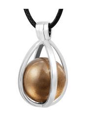 MummyBell MummyBell náhrdelník těhotenská rolnička Slza hnědá