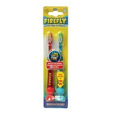 Firefly Base Double Light-up, svítící zubní kartáčky, 3r +, 2ks v balení