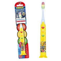 Firefly Svítící zubní kartáček Transformers, žlutá, od 3r +