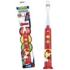 Firefly Svietiaca zubná kefka Avengers, červená, od 3r+