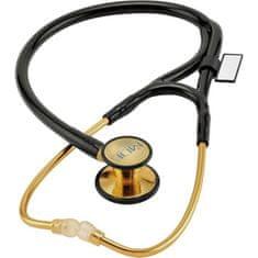 MDF 797K 22K GOLD CLASSIC KARDIOLOGY Pozlátený kardiologický stetoskop, čierna/zlatá