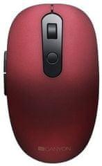 Canyon mysz bezprzewodowa CMSW09 Silent, czerwona (CNS-CMSW09R)