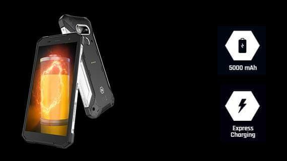 myPhone Hammer Explorer , velká baterie, rychlé nabíjení, GPS, Glonass, NFC, čtečka otisků prstů