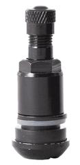FERDUS Bezdušový ventil TR525 MS, černý, otvor v ráfku 11,5 mm, délka 42 mm - balení po 100 ks