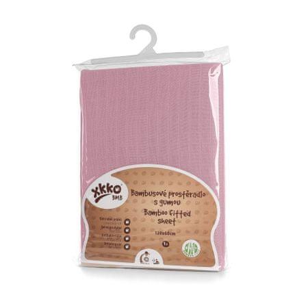 XKKO BMB Plandeka z gumą do łóżeczka 120x60, Baby Pink