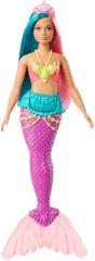 Mattel lalka Barbie Magiczna Syrenka - turkusowo-różowe włosy