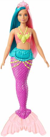 Mattel Barbie Varázslatos tengeri tündér türkiz-rózsaszín hajjal