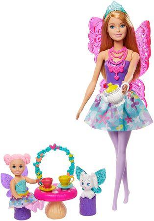 Mattel Barbie Mese játékkészlet Szárnyas tündérbabával
