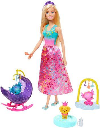 Mattel Barbie Mese játékkészlet Hercegnő baba hosszú szoknyával