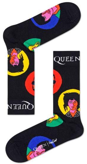 Happy Socks unisex ponožky Queen Sock QUE01-9301 36 - 40 černá